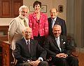 Carl Djerassi, Madeleine Jacobs, George Rosenkranz, Alex Zaffaroni ,Jon Huntsman HD2004.JPG
