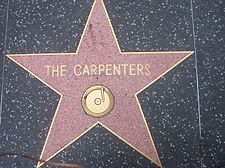 Close-up photograph of the Carpenters' star on the Hollywood Walk of Fame