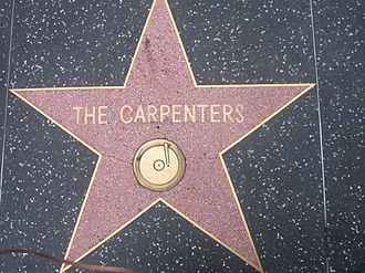 Karen Carpenter - The Carpenters' star at the Hollywood Walk of Fame