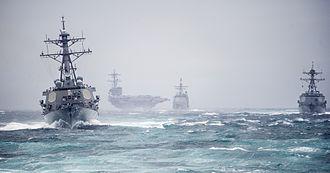 Carrier Strike Group 2 - Carrier Strike Group Two underway (10 December 2013)