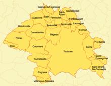 Cartina Francia Tolosa.Toulouse Metropole Wikidata