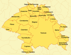 Map Greater Toulouse