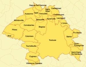 Toulouse Métropole - Map Greater Toulouse