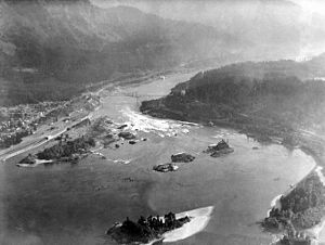 Cascades Rapids - Cascade Locks and Rapids, September 8, 1929