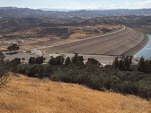 Castaic Dam - View from the northeast.