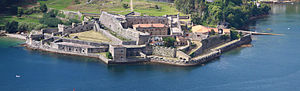 Ferrol, Galicia - The castle of San Felipe at the entrance of the harbour