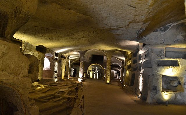 Catacombes San Gennero à Naples. Photo de Peppe Guida.