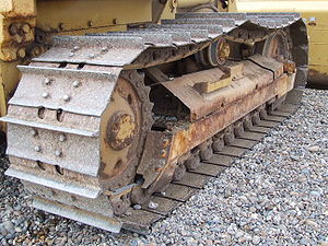 Continuous track - A closeup of continuous tracks on a bulldozer