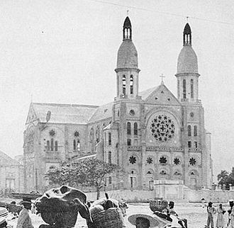 Cathedral of Our Lady of the Assumption, Port-au-Prince - Cathédrale in about 1924