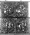 Cathédrale - Vitrail, déambulatoire, baie 52, le Bon Samaritain, huitième panneau, en haut - Rouen - Médiathèque de l'architecture et du patrimoine - APMH00032388.jpg
