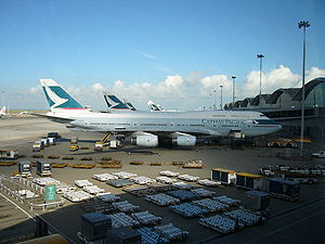Cathay Pacific Planes Aligned