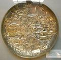 CdM, piatto con re sasanide alla caccia, iran 591-632.JPG