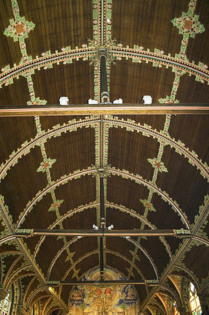 Basilica of the Holy Blood, Brugge - Ceiling of the main nave