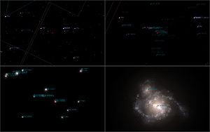 Celestia - Typical DSO survey in Celestia