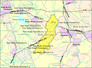 Branchburg, New Jersey - Image: Census Bureau map of Branchburg Township, New Jersey