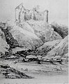 Cetatea Poenari by Gheorghe Tatarescu (1860).jpg