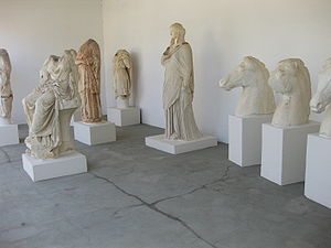 Euboea - Exhibits in the archaeological museum of Chalcis.