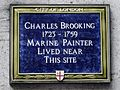 Charles Brooking 1723-1759 marine painter lived near this site.jpg