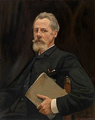 Portrait of the painter Louis Derickx