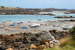 Chausey carenage a maree basse