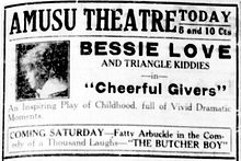 CheerfulGivers 1917 newspaperad.jpg
