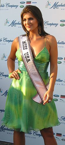 Photographie de Chelsea Cooley, Miss Caroline du Nord USA et Miss USA en 2005.