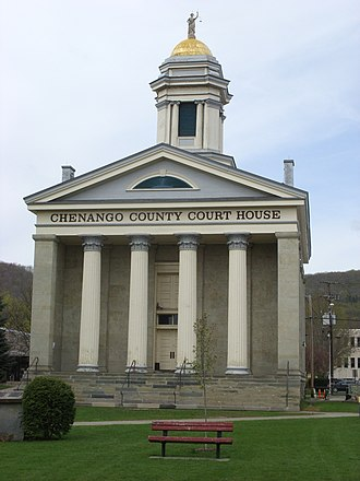 National Register of Historic Places listings in Chenango County, New York - Image: Chenango County Courthouse May 09