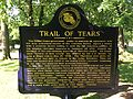 Cherokee Heritage Center - Trail of Tears plaque-front (2015-05-27 08.58.24 by Wesley Fryer).jpg