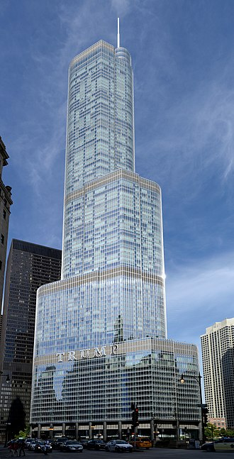 Trump International Hotel and Tower (Chicago) - Trump International Hotel and Tower as viewed from street level
