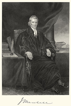 Supreme Court of the United States - Chief Justice Marshall