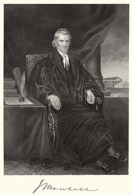 Steel engraving of John Marshall by Alonzo Chappel Chief Justice John Marshall.jpeg
