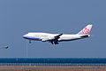 China Airlines ,CI156 ,Boeing 747-409 ,B-18651 ,Arrived from Taipei ,Kansai Airport (16045921814).jpg