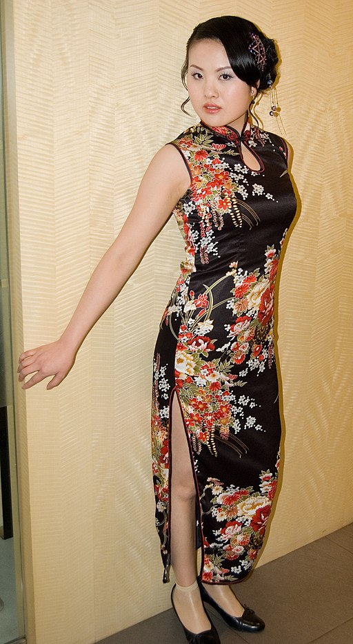 Chinese woman in Qipao
