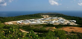 Christmas Island Immigration Reception and Processing Centre - The Immigration Detention Centre in 2008 (Image by DIAC)