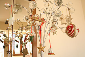 Christmas decoration - Christmas decorations in a private home, Europe.
