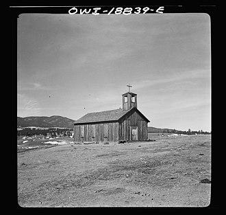 Elizabethtown, New Mexico - Church at Elizabethtown (1943)