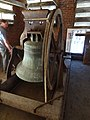 Church bell of Pawtucket Congregational Church, front side; Lowell, Massachusetts; 2012-05-19.JPG