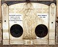 Cimitero dall'antella, tomba di salvatore giannelli ed emma barbagli con rilievi di odo franceschi, 1910-1922 ca.JPG