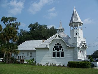 U.S. Route 301 in Florida - First Baptist Church, at the U.S. 301/CR 318 intersection in Citra