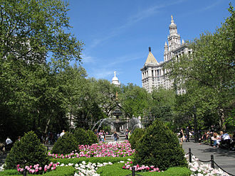 City Hall Park - The park in 2007