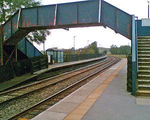 Clapham railway station - Image: Claphamstationbridge
