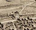 Clarendon Hills station on 1890 bird's eye view map of Hyde Park, Massachusetts.jpg