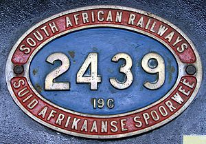South African Class 19C 4-8-2 - Image: Class 19C 2439 (4 8 2) IDR