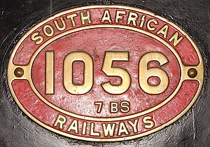 South African Class 7B 4-8-0 - Image: Class 7BS 1056 (4 8 0) IDR