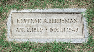 Clifford K. Berryman - Grave of Clifford Berryman at Glenwood Cemetery.