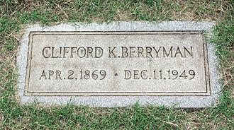 Clifford K. Berryman - Grave of Clifford Berryman at Glenwood Cemetery.