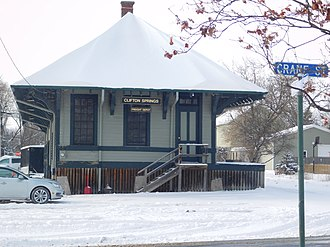 Clifton Springs, New York - The former New York Central Railroad freight station in Clifton Springs.