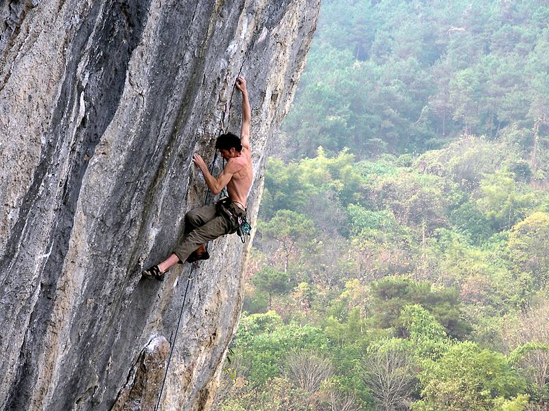 Rock Climbing In Wutong Mountain