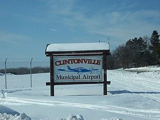 Clintonville Municipal Airport - Entrance Sign