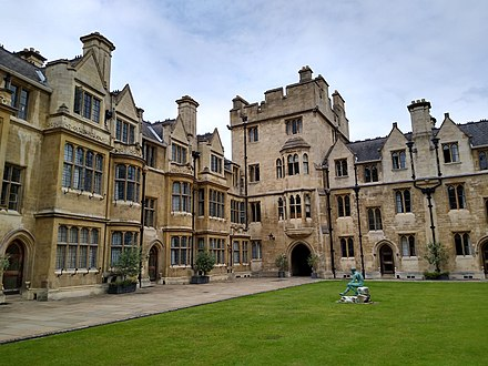 Whewell's Court north range at Trinity College, Cambridge.  Whitehead spent thirty years at Trinity, five as a student and twenty-five as a senior lecturer.